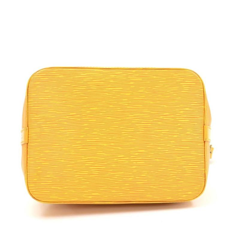 Vintage Louis Vuitton Petit Noe Yellow Epi Leather Shoulder Bag 6