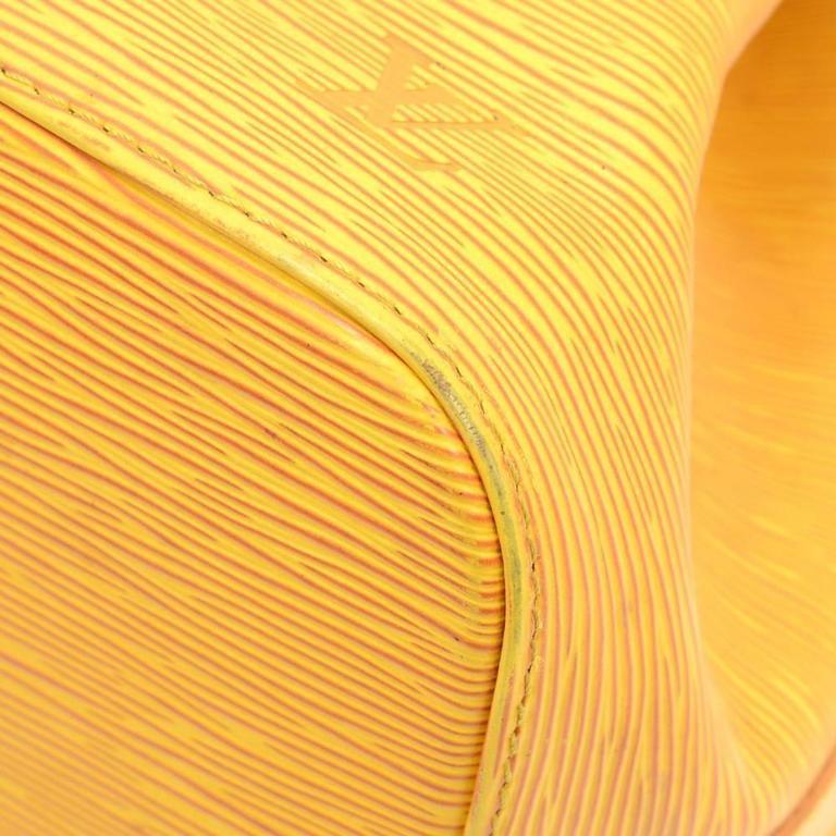 Vintage Louis Vuitton Petit Noe Yellow Epi Leather Shoulder Bag 8
