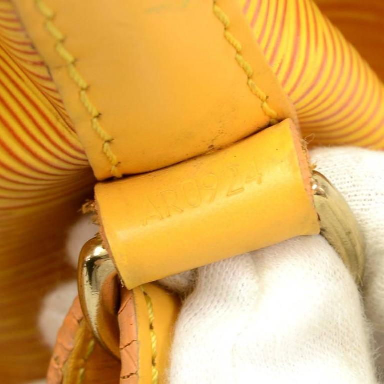 Vintage Louis Vuitton Petit Noe Yellow Epi Leather Shoulder Bag 9