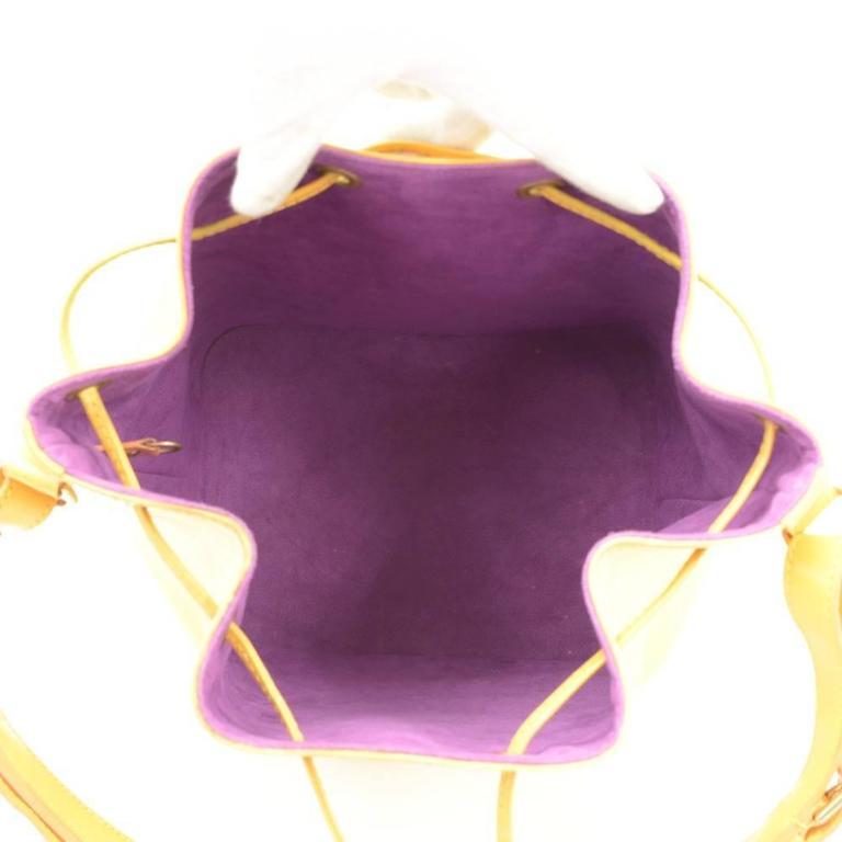 Vintage Louis Vuitton Petit Noe Yellow Epi Leather Shoulder Bag 10