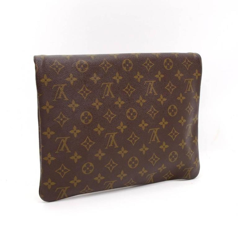 louis vuitton pochette pliant monogram canvas envelope clutch bag at 1stdibs