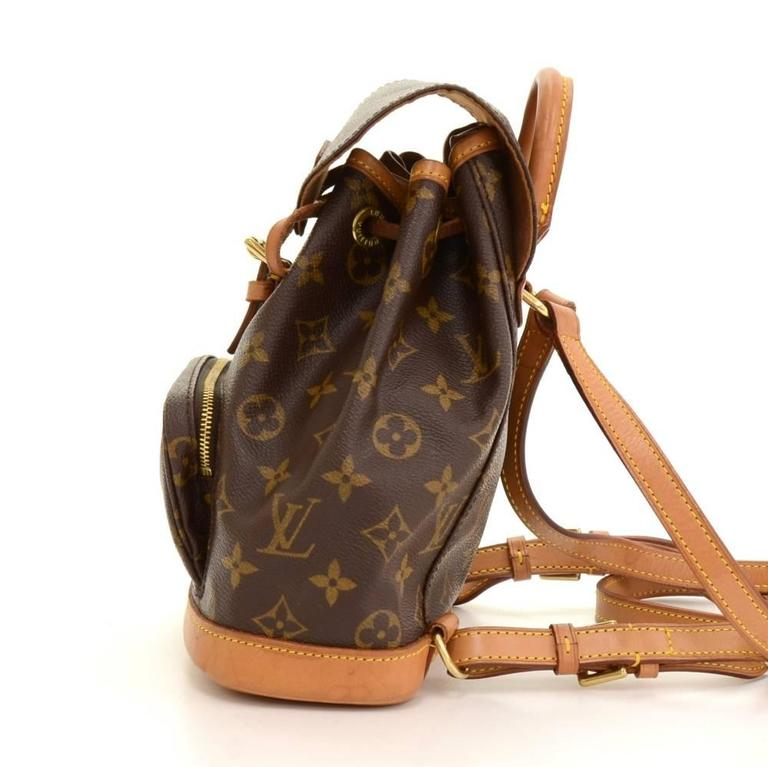 Louis Vuitton Mini Montsouris Monogram Canvas Backpack Bag In Good Condition For Sale In Fukuoka, Kyushu