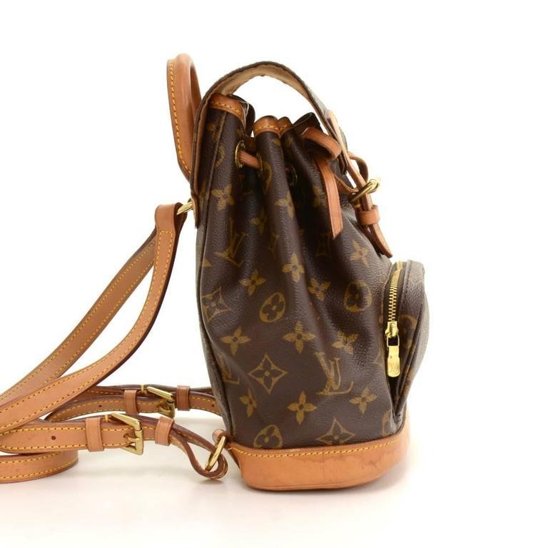 Women's Louis Vuitton Mini Montsouris Monogram Canvas Backpack Bag For Sale