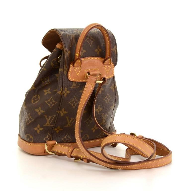 Black Louis Vuitton Mini Montsouris Monogram Canvas Backpack Bag For Sale