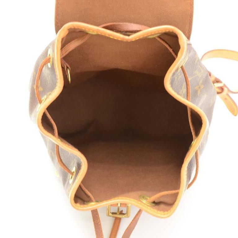 Louis Vuitton Mini Montsouris Monogram Canvas Backpack Bag For Sale 5