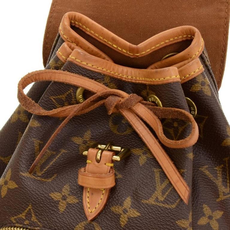 Louis Vuitton Mini Montsouris Monogram Canvas Backpack Bag For Sale 2
