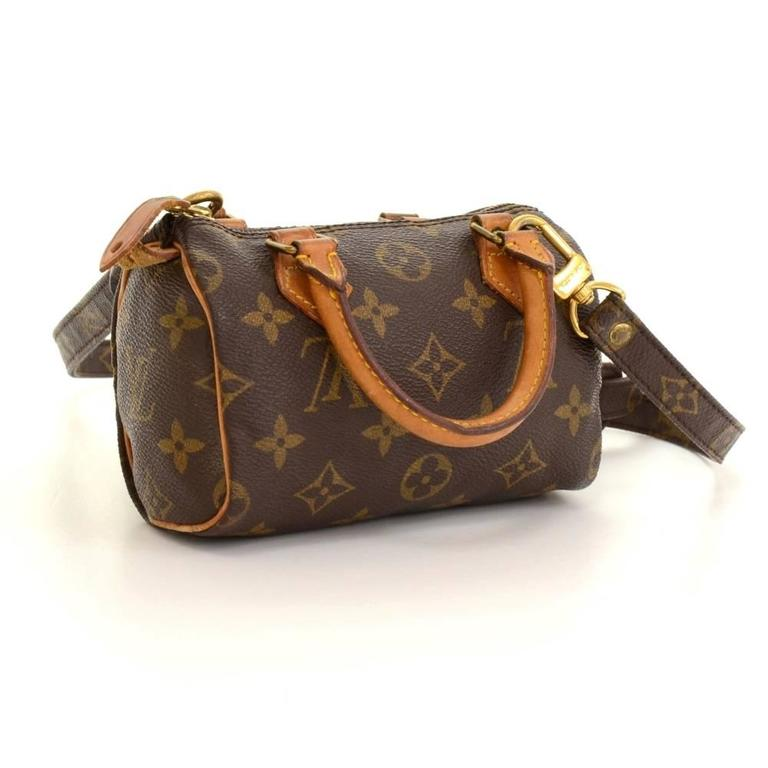 Vintage Louis Vuitton Mini Speedy Sac HL Monogram Canvas Hand Bag + Strap 3
