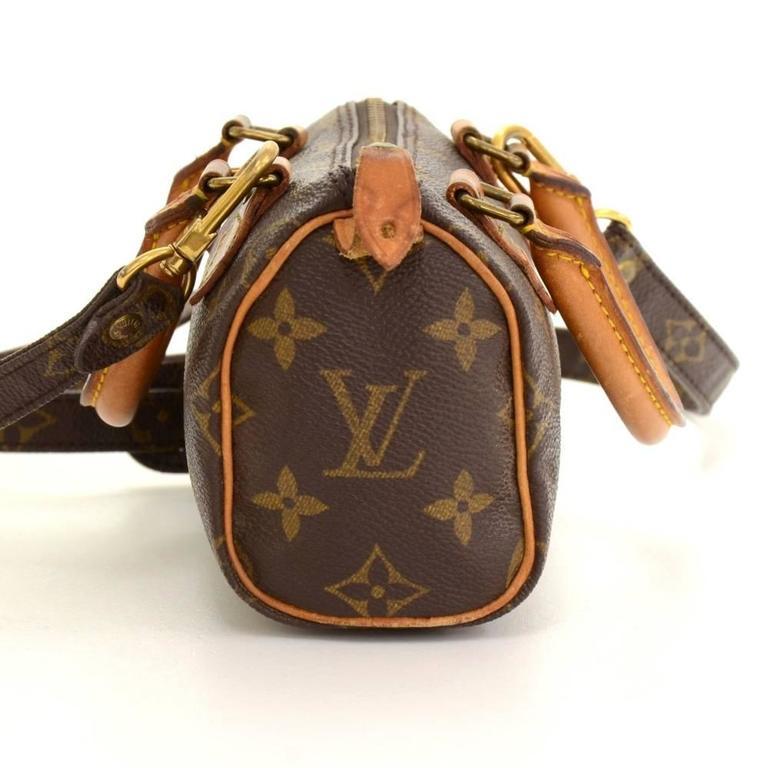Vintage Louis Vuitton Mini Speedy Sac HL Monogram Canvas Hand Bag + Strap 5