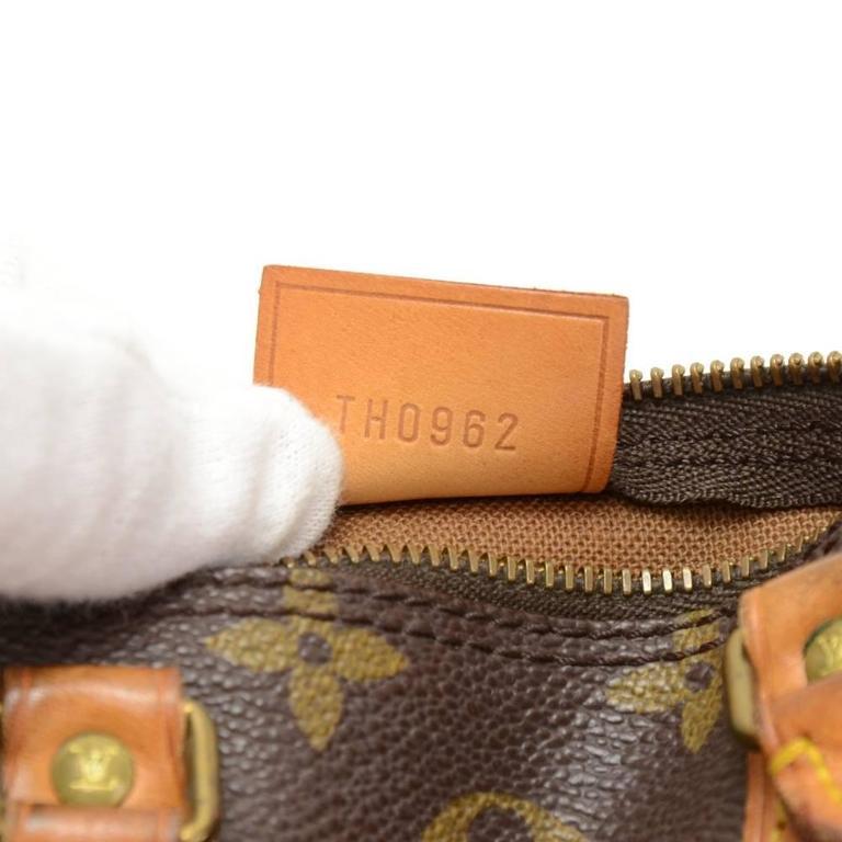 Vintage Louis Vuitton Mini Speedy Sac HL Monogram Canvas Hand Bag + Strap 9