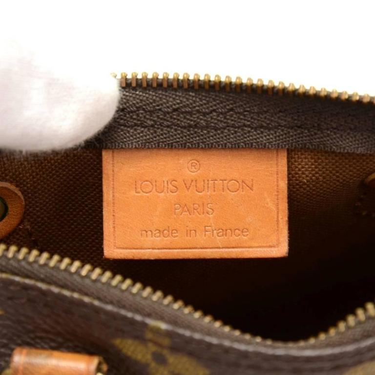 Vintage Louis Vuitton Mini Speedy Sac HL Monogram Canvas Hand Bag + Strap 8