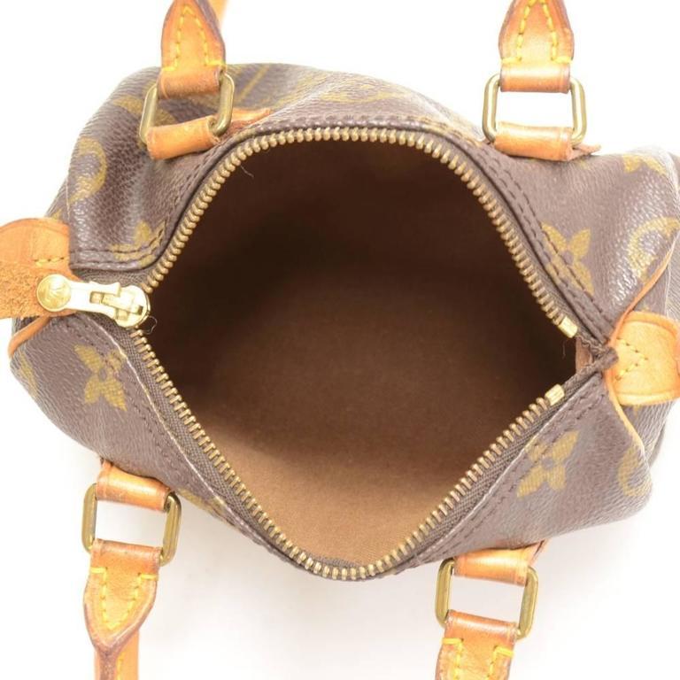 Vintage Louis Vuitton Mini Speedy Sac HL Monogram Canvas Hand Bag + Strap 10