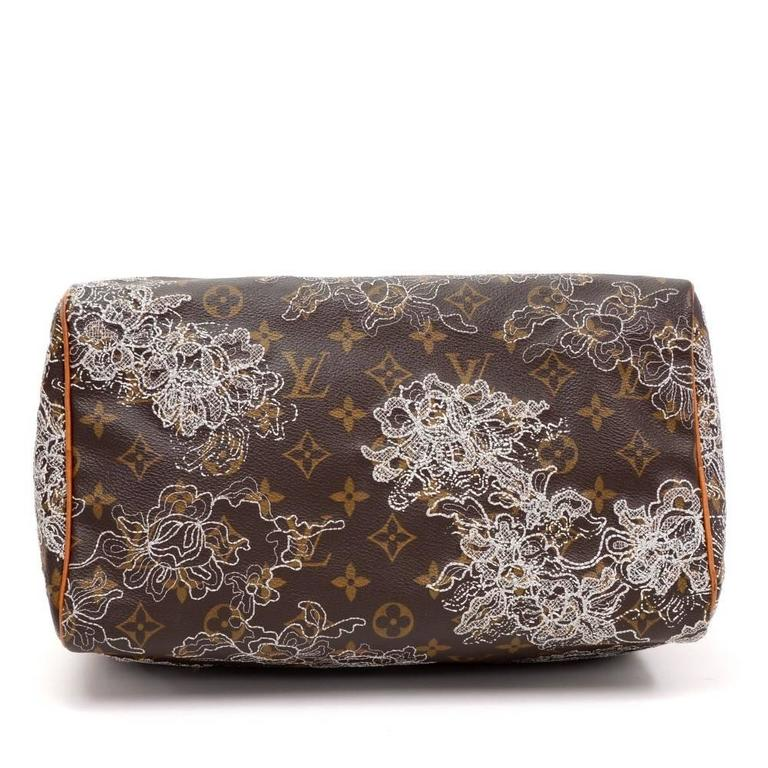 louis vuitton speedy 30 monogram dentelle canvas city hand bag