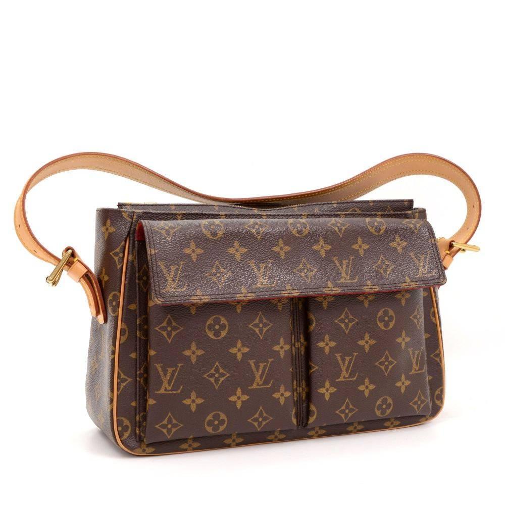 Louis Vuitton Viva Cite Gm Monogram Canvas Shoulder Bag At 1stdibs