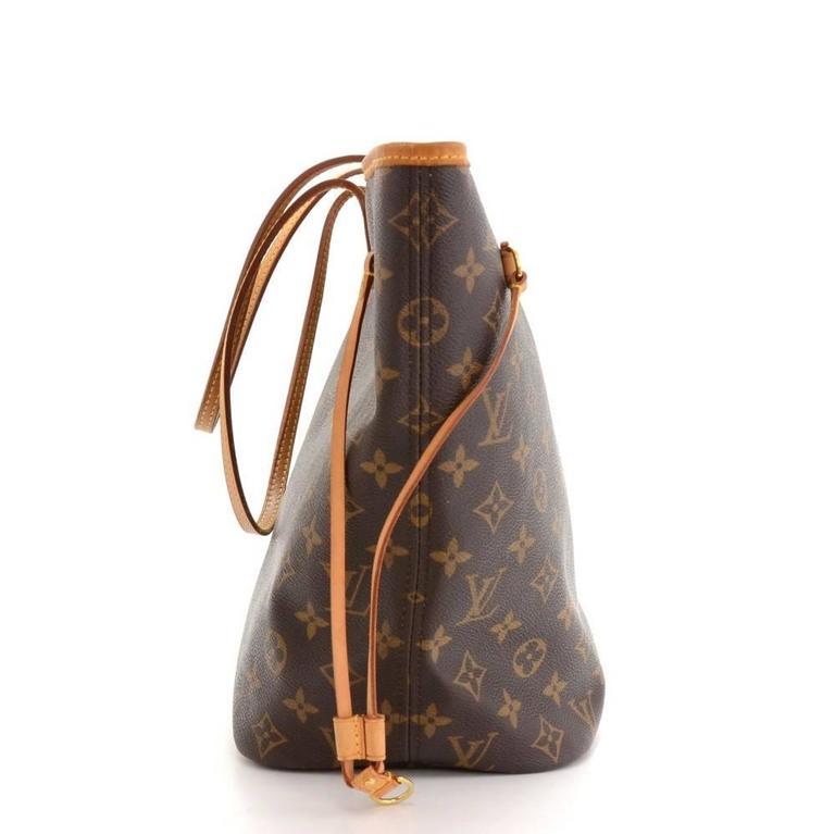 Louis Vuitton Neverfull MM Monogram Canvas Shoulder Tote Bag 4