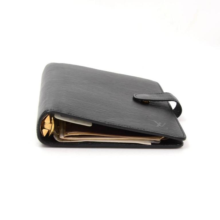 1a5d878b290a Louis Vuitton Agenda Fonctionnel MM Black Epi Leather Agenda Cover In Good  Condition For Sale In
