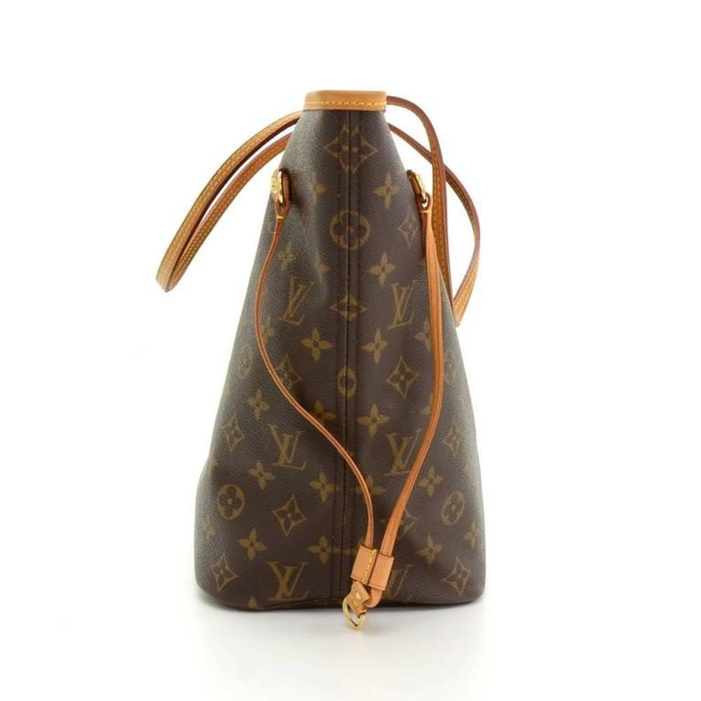 Sac Louis Vuitton Neverfull Mm : Louis vuitton neverfull mm monogram canvas shoulder tote bag at stdibs