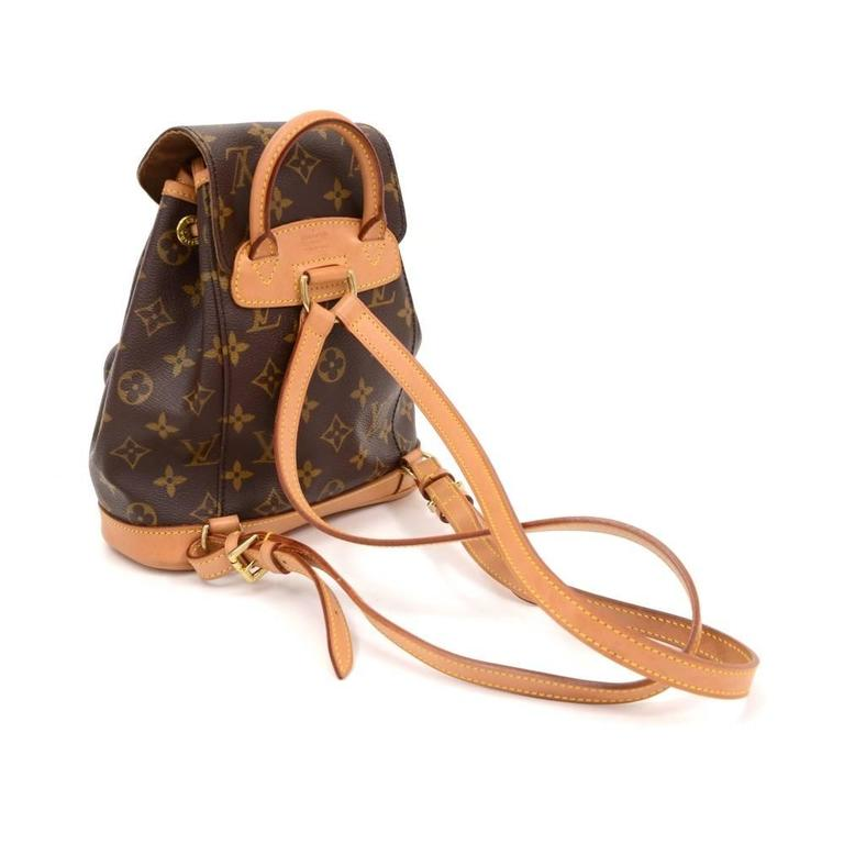 Louis Vuitton Mini Montsouris Monogram Canvas Backpack Bag 3