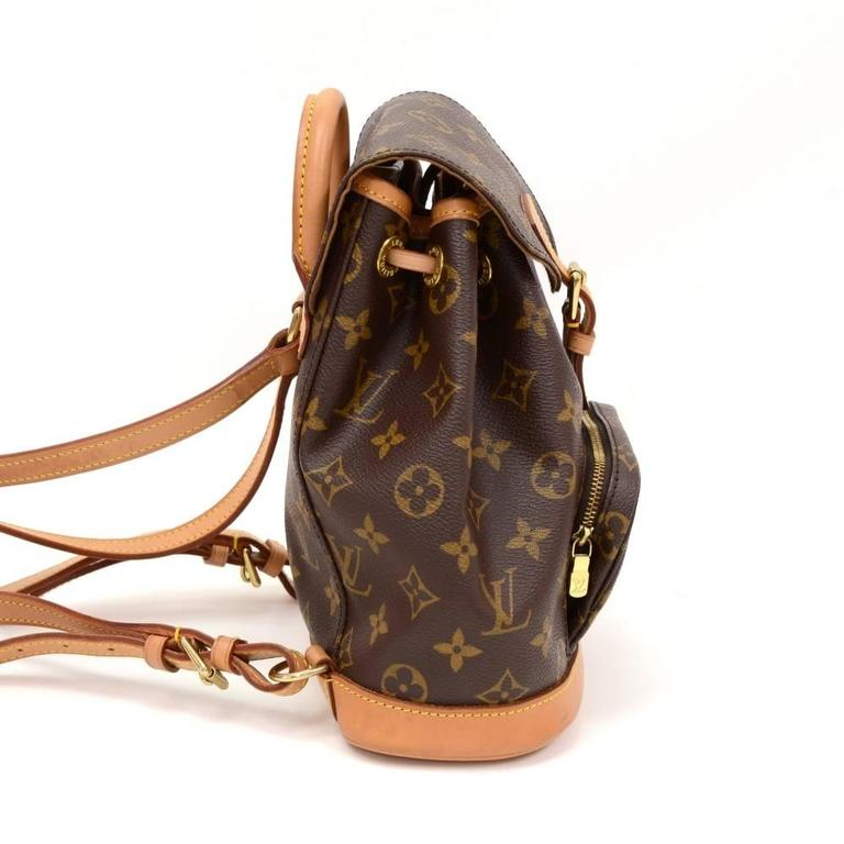Louis Vuitton Mini Montsouris Monogram Canvas Backpack Bag 4