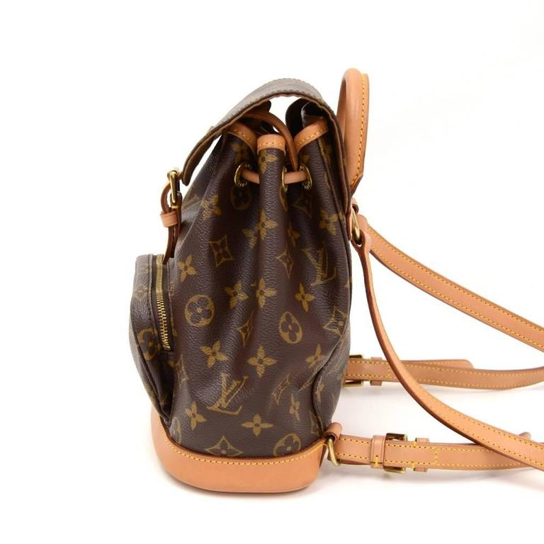 Louis Vuitton Mini Montsouris Monogram Canvas Backpack Bag 5