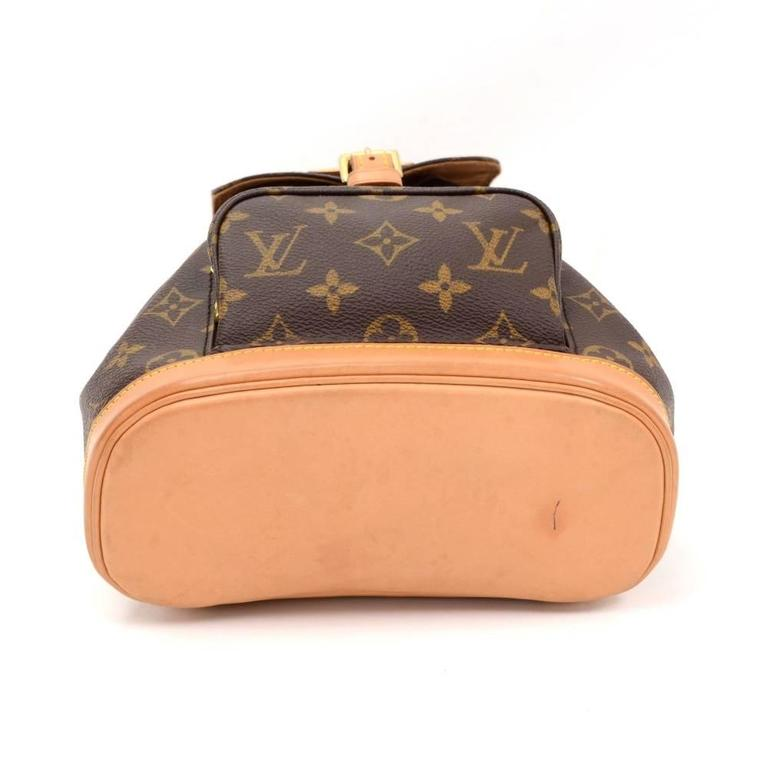 Louis Vuitton Mini Montsouris Monogram Canvas Backpack Bag 6