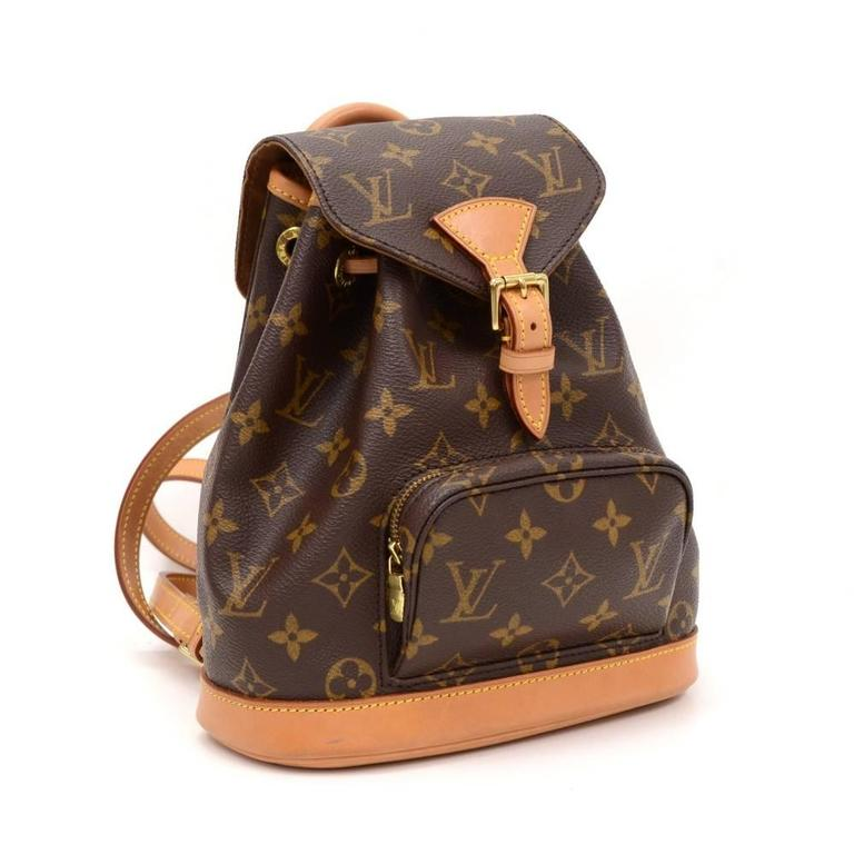 Louis Vuitton Mini Montsouris Monogram Canvas Backpack Bag 2