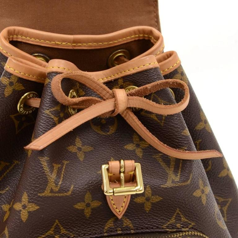 Louis Vuitton Mini Montsouris Monogram Canvas Backpack Bag 8