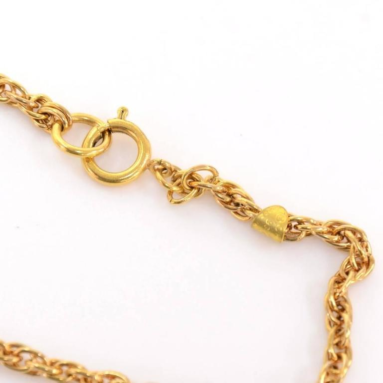 Vintage Chanel 2.55 Bag Motif Pendant Top Chain Necklace CC In Excellent Condition For Sale In Fukuoka, Kyushu
