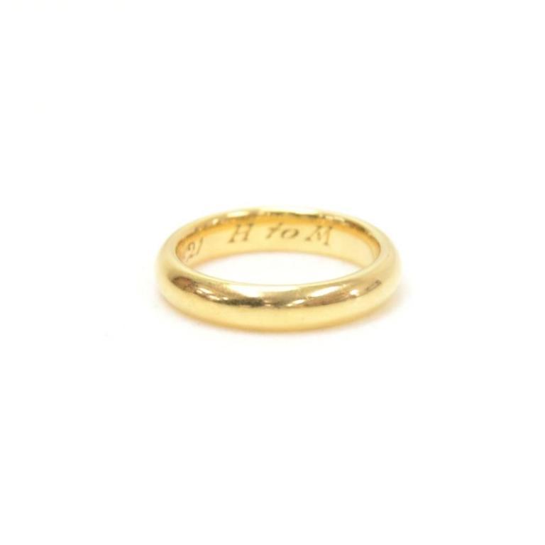 Lucida Bands: Tiffany And Co. Lucida Wedding Band 18K 4mm Ring At 1stdibs