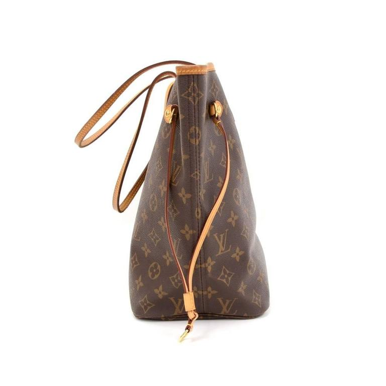 Louis Vuitton Neverfull MM Monogram Canvas Shoulder Tote Bag 4