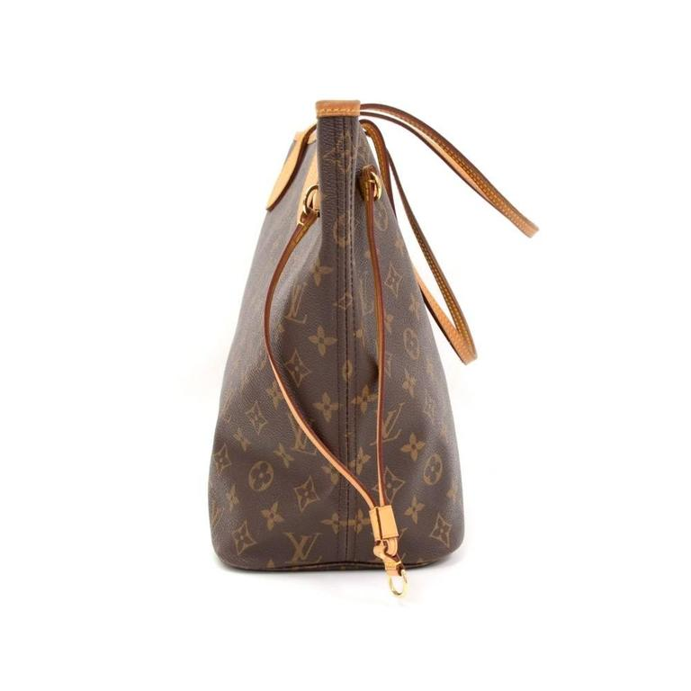 Louis Vuitton Neverfull MM Monogram Canvas Shoulder Tote Bag 5