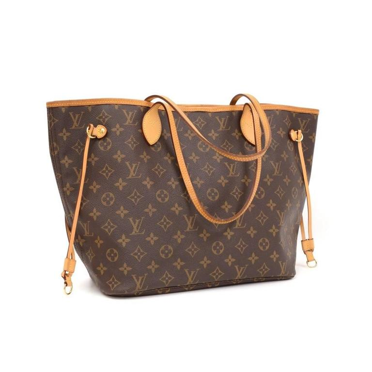 Louis Vuitton Neverfull MM Monogram Canvas Shoulder Tote Bag 2