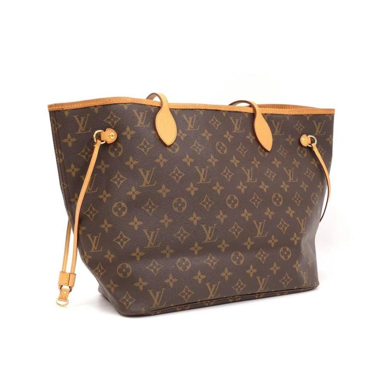 Louis Vuitton Neverfull MM Monogram Canvas Shoulder Tote Bag 3