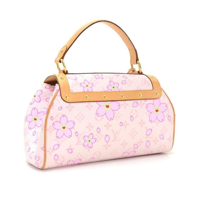 Louis Vuitton Sac Retro PM Pink Rouge Cherry Blossom Monogram Canvas Hand Bag 3