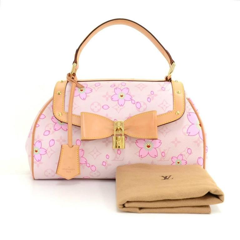 louis vuitton sac retro pm pink rouge cherry blossom monogram canvas hand bag for sale at 1stdibs