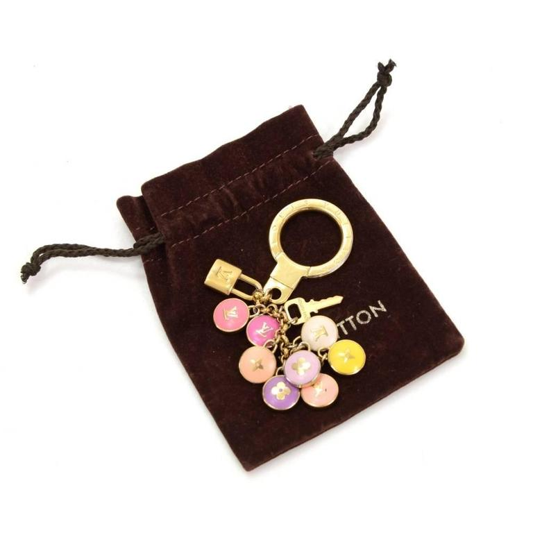Louis Vuitton Pastilles Multicolor Gold Tone Key Chain / Charm 2