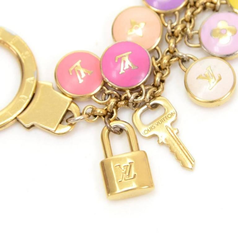 Louis Vuitton Pastilles Multicolor Gold Tone Key Chain / Charm 4