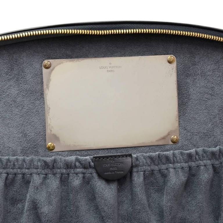 Vintage Louis Vuitton Nice Beauty Black Epi Leather Travel Case + Strap 7