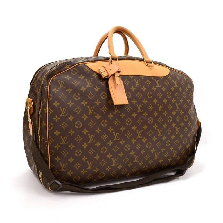 Louis Vuitton Alize 2 Poches Travel Bag In Monogram Canvas One Of The Largest Sy