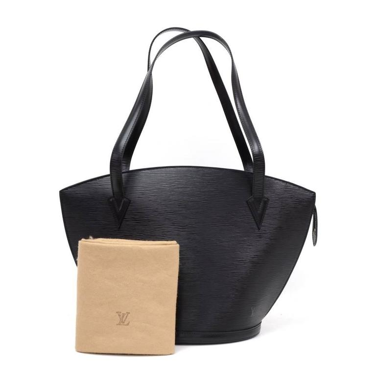 vintage louis vuitton saint jacques gm black epi leather shoulder bag at 1stdibs