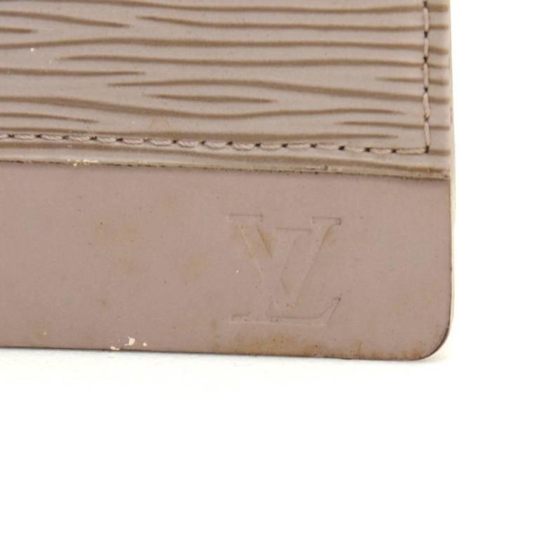 Louis Vuitton Honfleur Lilac Epi Leather Shoulder Clutch Wallet For Sale 3
