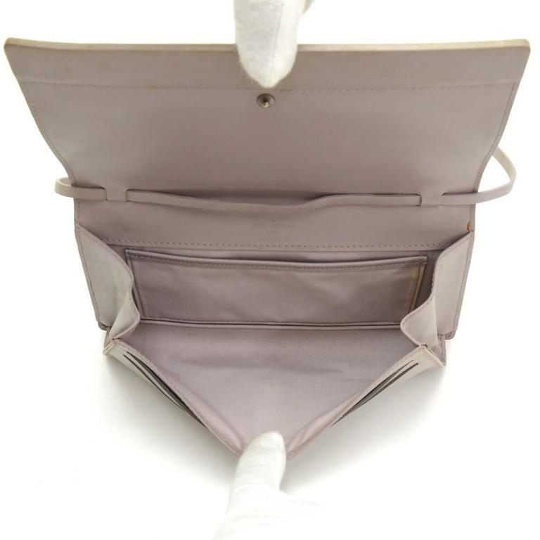 Louis Vuitton Honfleur Lilac Epi Leather Shoulder Clutch Wallet For Sale 5