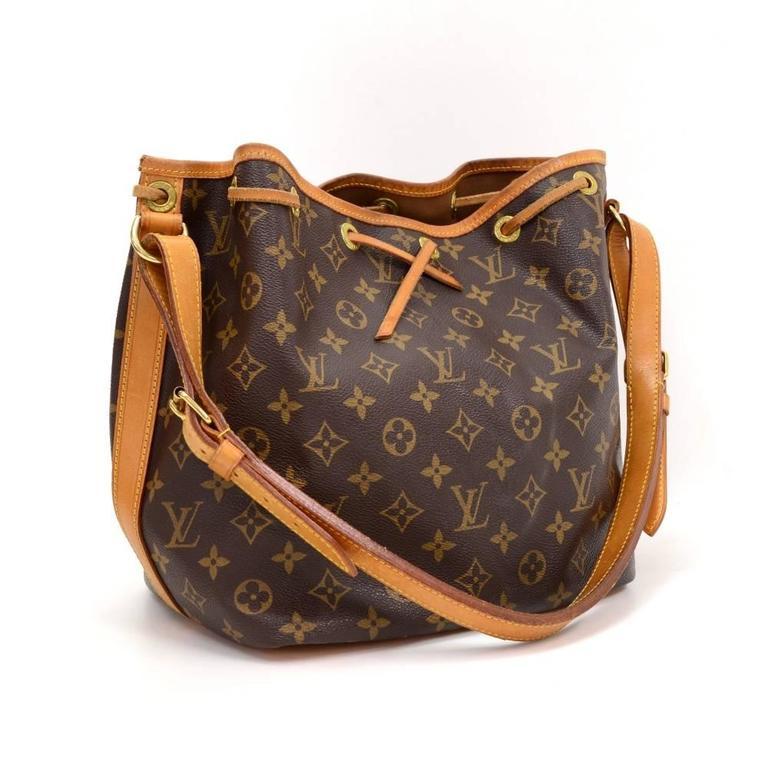 Louis Vuitton Petit Noe Monogram Canvas Shoulder Bag At 1stdibs