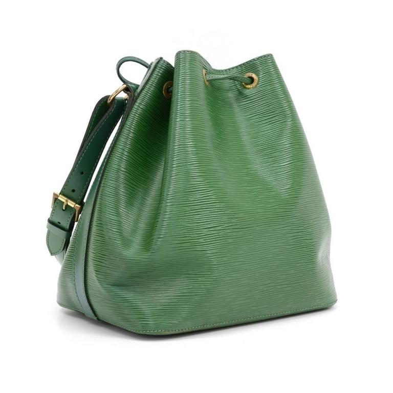 Black Vintage Louis Vuitton Pe Noe Green Epi Leather Shoulder Bag For