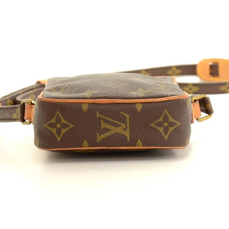 Vintage Louis Vuitton Mini Danube Monogram Canvas Shoulder Pochette Bag For Sale 1