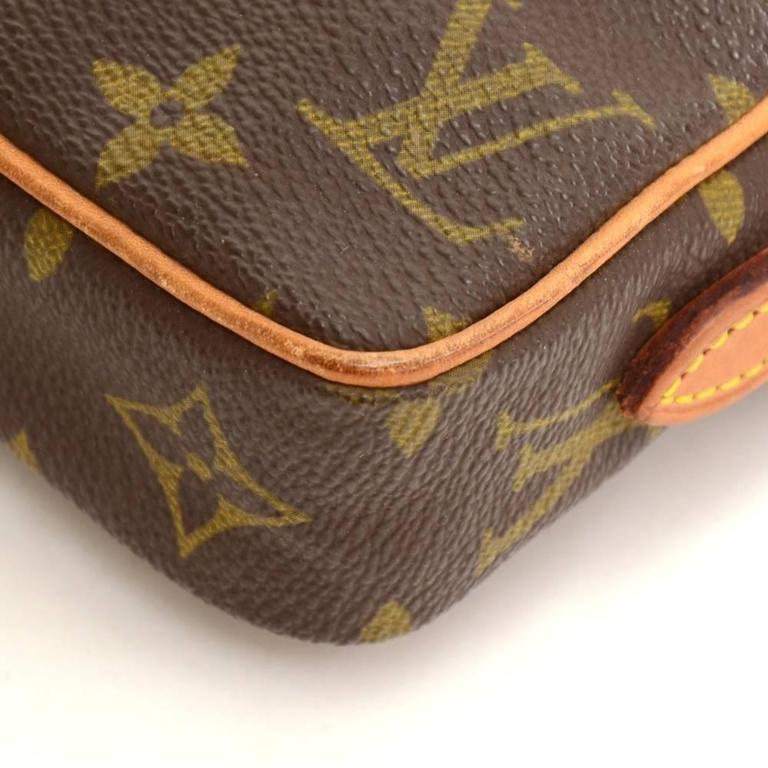 Vintage Louis Vuitton Mini Danube Monogram Canvas Shoulder Pochette Bag For Sale 2