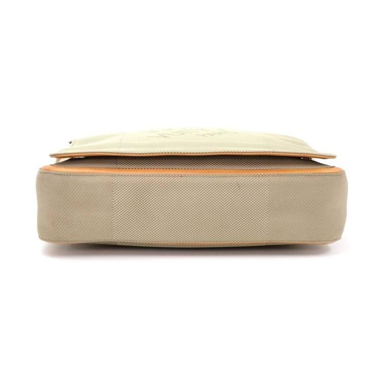 Louis Vuitton Messager Gray Damier Geant Canvas Laptop Bag For Sale 1