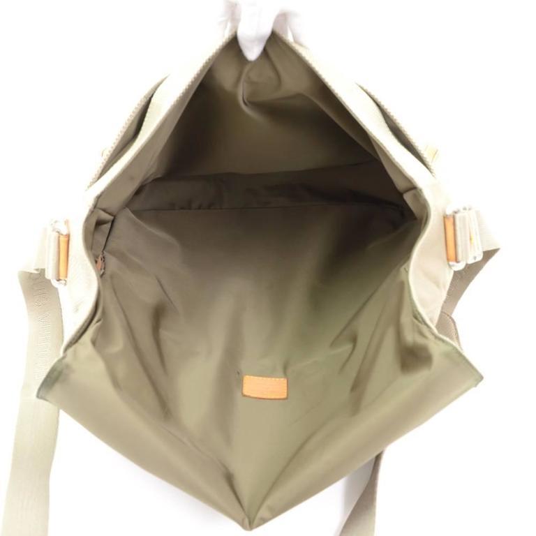 Louis Vuitton Messager Gray Damier Geant Canvas Laptop Bag For Sale 5