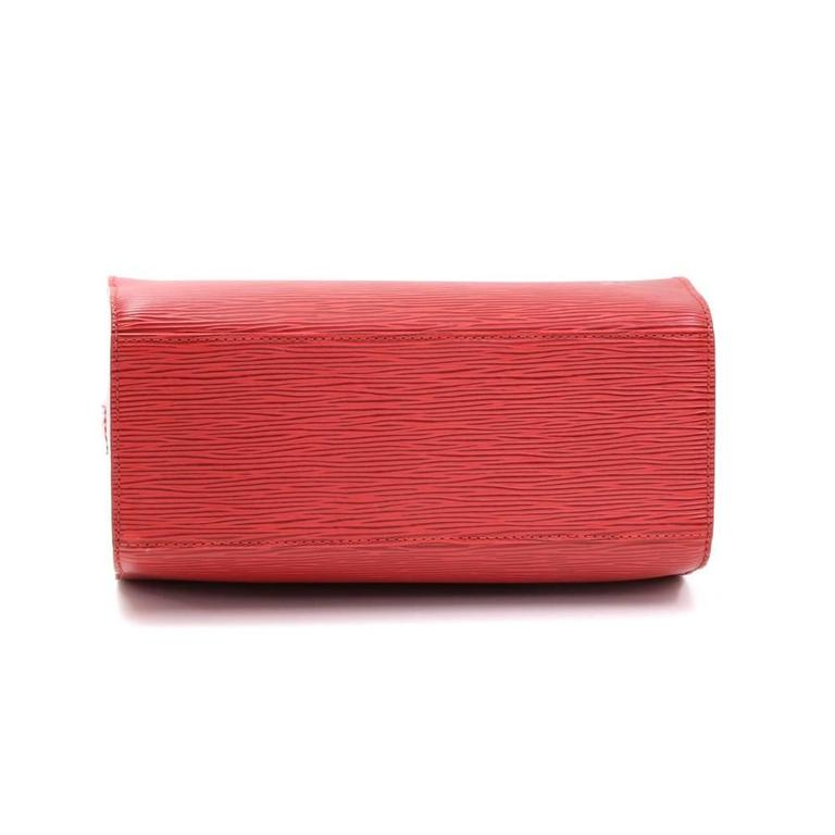 louis vuitton pont neuf red epi leather hand bag at 1stdibs
