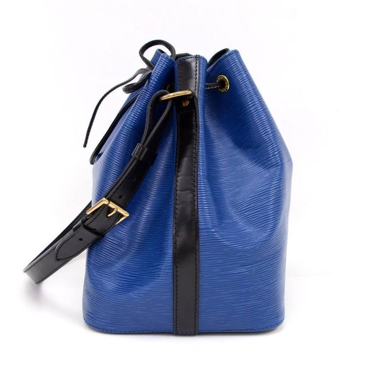 a649afa4b807 Vintage Louis Vuitton Petit Noe Black Epi Leather Shoulder Bag