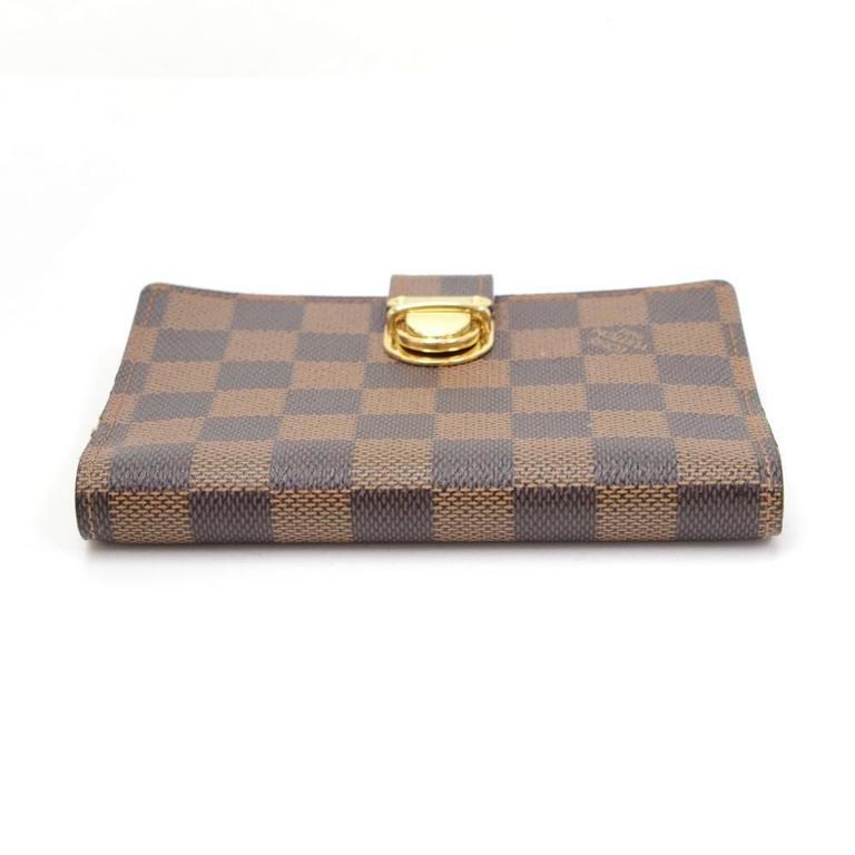 Louis Vuitton Agenda Fonctionnel PM Ebene Damier Canvas Agenda Cover For Sale 1